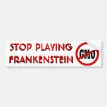 Pare el jugar de Frankenstein NINGUNA pegatina par Pegatina De Parachoque