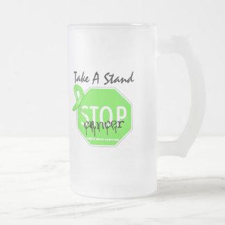 Pare el linfoma Non-Hodgkin toman un soporte Tazas De Café