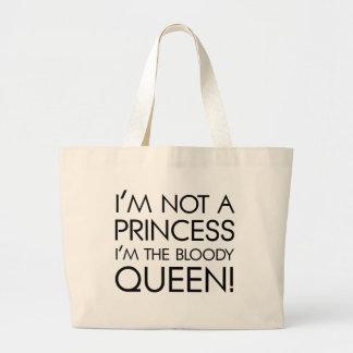 Pare el llamar de mí princesa: ¡Soy la reina Bolsa Tela Grande