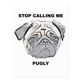 Pare el llamar de mí pugly diseño del barro amasad
