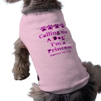 Pare el llamar de mí un perro playera sin mangas para perro