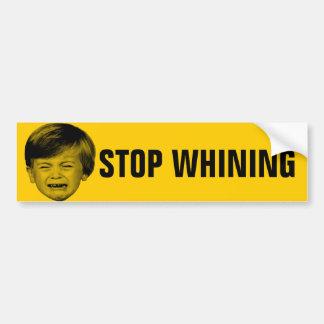 Pare el lloriquear pegatina para auto