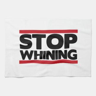 Pare el lloriquear toalla de mano