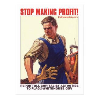 Pare el lograr del beneficio - capitalistas del in postales