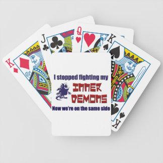 Paré el luchar de mis demonios internos baraja de cartas