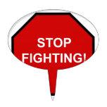 Pare el luchar figuras para tartas