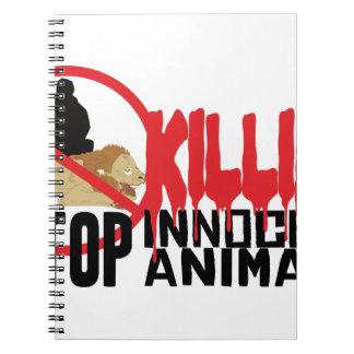 Pare el matar de animales libreta
