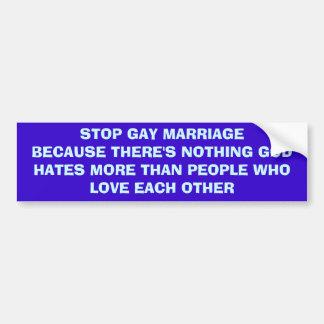 Pare el matrimonio homosexual pegatina para auto