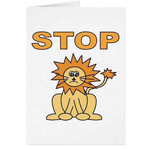Pare el mentir (el león) tarjeta de felicitación