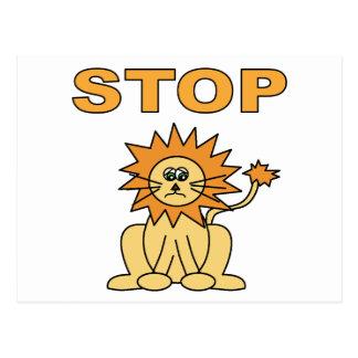 Pare el mentir (el león) tarjetas postales