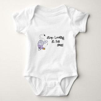 Pare el mirar de mí cisne body para bebé