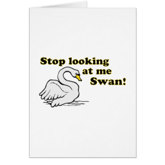 Pare el mirar de mí cisne tarjetas