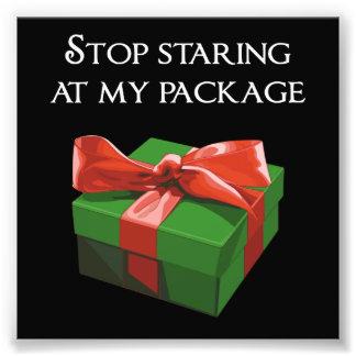 Pare el mirar fijamente mi regalo de Navidad del Fotografías