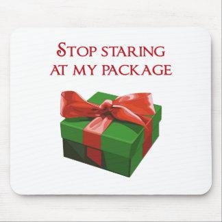 Pare el mirar fijamente mi regalo de Navidad del Mouse Pad