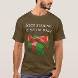 Pare el mirar fijamente mi regalo de Navidad del Playera