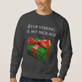 Pare el mirar fijamente mi regalo de Navidad del Sudadera