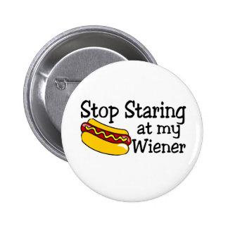 Pare el mirar fijamente mi salchicha de Frankfurt Pins