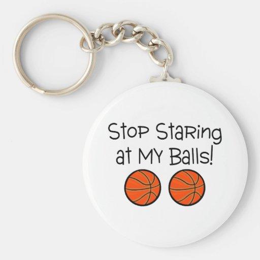 Pare el mirar fijamente mis baloncestos de las bol llavero personalizado