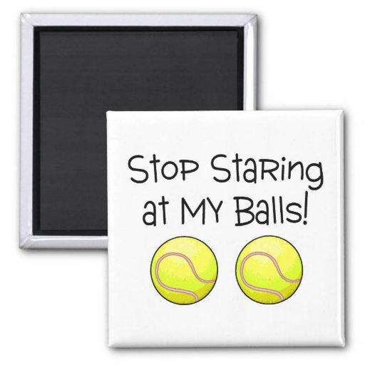 Pare el mirar fijamente mis bolas (las pelotas de  imán para frigorífico