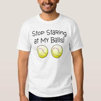 Pare el mirar fijamente mis bolas (las pelotas de playera