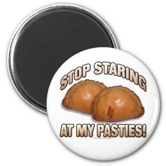 ¡Pare el mirar fijamente mis pasteles! Imán Redondo 5 Cm