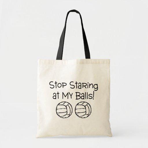 Pare el mirar fijamente mis voleiboles de las bola bolsas