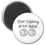 Pare el mirar fijamente mis voleiboles de las bola imanes de nevera