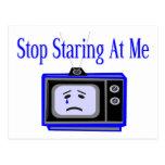 Pare el mirar fijamente postal