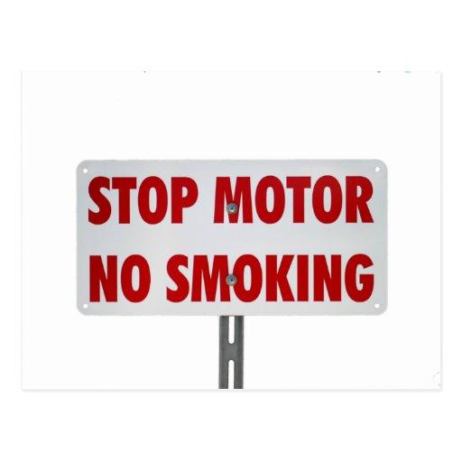 Pare el motor de no fumadores postal