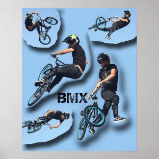 Pare el movimiento BMX, Copyright Karen J Williams Póster