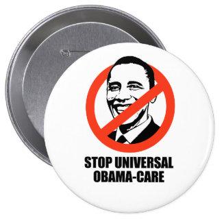 Pare el Obama-cuidado universal Pins