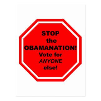 ¡Pare el Obamanation! Postal