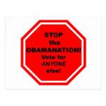 ¡Pare el Obamanation! Tarjeta Postal
