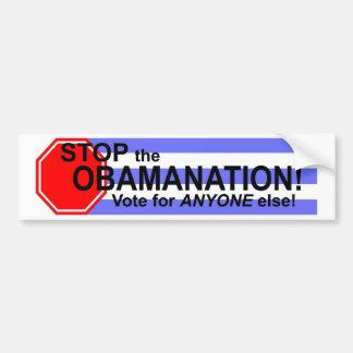 ¡Pare el Obomanation! Pegatina Para Auto