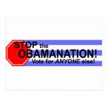 ¡Pare el Obomanation! Tarjetas Postales