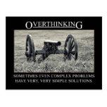 Pare el overthinking de las soluciones a los probl tarjeta postal