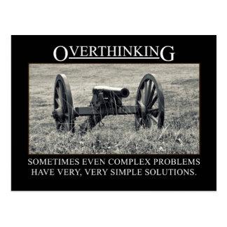 Pare el overthinking de las soluciones a los tarjeta postal