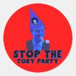 Pare el partido conservador pegatinas redondas