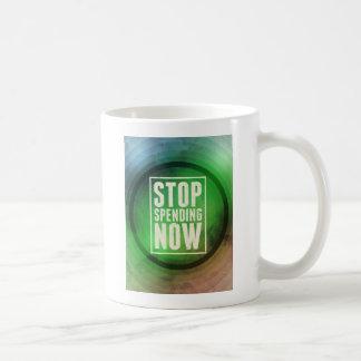 Pare el pasar ahora taza de café