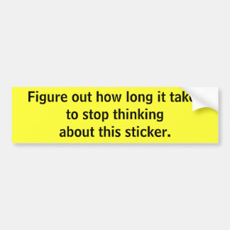 Pare el pensar de la pegatina para el parachoques etiqueta de parachoque