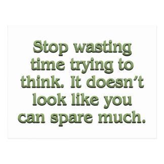 Pare el perder de tiempo postales