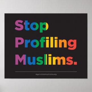 Pare el perfilar del poster del arco iris de los póster