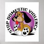 Pare el perro de la violencia en el hogar impresiones