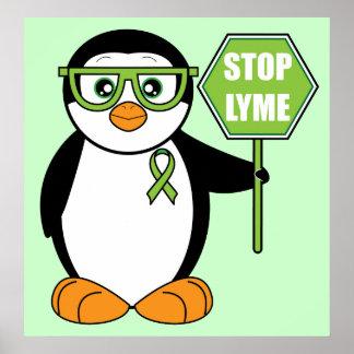 Pare el pingüino de Lyme con la muestra Posters