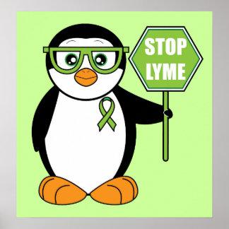 Pare el pingüino de Lyme con la muestra Poster