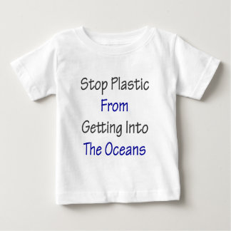 Pare el plástico de conseguir en los océanos playera de bebé