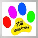 Pare el poster animal de la crueldad