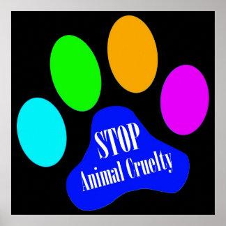 Pare el poster animal de la crueldad (el negro)