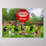 Pare el poster animal del abuso
