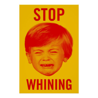 Pare el poster de gimoteo
